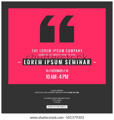 seminar invitation template