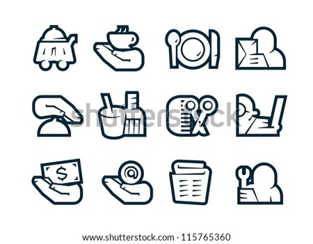Business Service Icons - stock vector