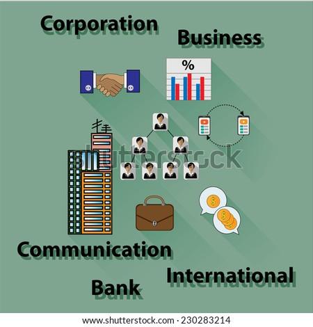business set - stock vector