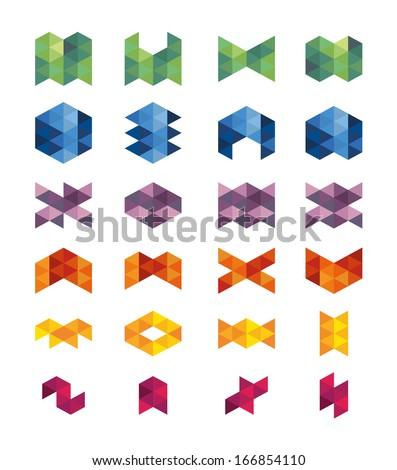 Business set icon. Square triangle shapes. - stock vector