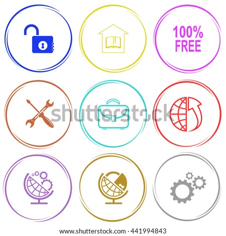 Business set. Internet button. Vector icons.