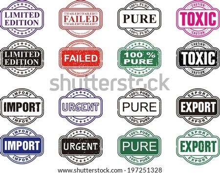 Business set stamps  - stock vector