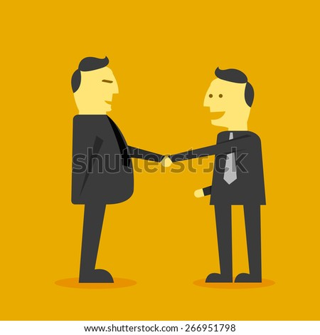 business shaking hand - stock vector