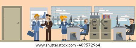 Business situations banner - stock vector
