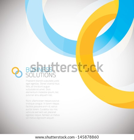 Business solution background vector eps - stock vector