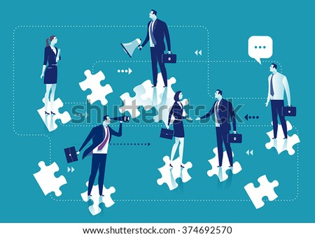 Business Solution. Business concept illustration - stock vector