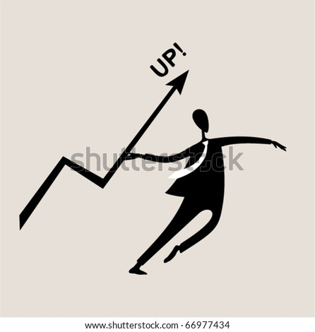 Business sports. javelin throwing - stock vector
