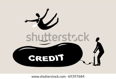 Business sports. trampolining - stock vector