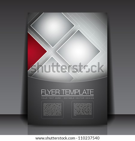 Business Squares Background Flyer Template - Vector Design Concept - stock vector