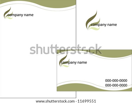 Business stationery set, vector sketch#2 - stock vector