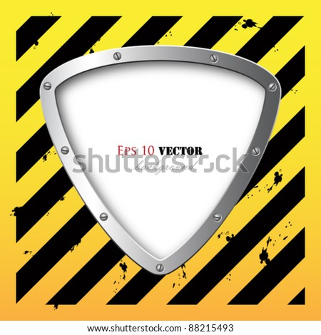 business steel plate background - stock vector