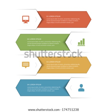 Business step options banner. Vector illustration. Infographics design template.  - stock vector
