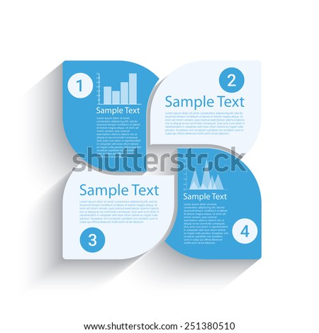 Business steps template for your design, Eps10 vector - stock vector