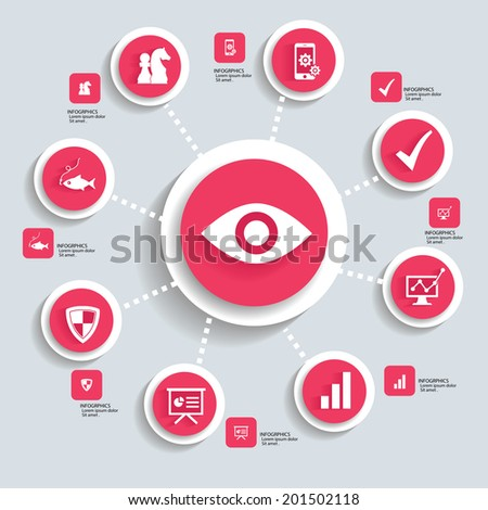 Business strategy concept info graphics,orange vector - stock vector