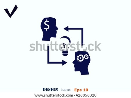 Business strategy icon, business concept icon, vector illustration. - stock vector