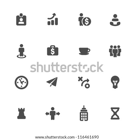 Business strategy icons set - stock vector