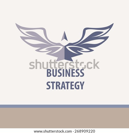Business strategy, vector illustration. Business Technology, innovation and education. Bird tending upwards. - stock vector