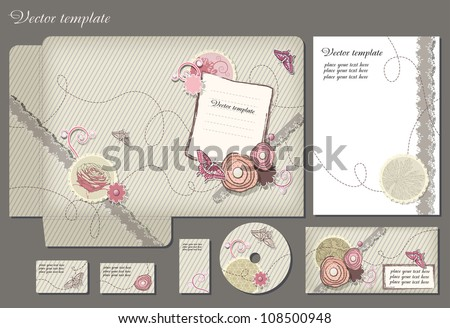 Business style template. Please scale vector to artboard after open - stock vector