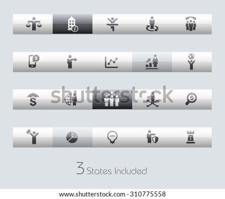 Business Success // Classic Bars +++ The vector file includes 3 buttons states in different layers. +++ - stock vector