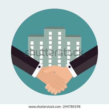 Business success concept - stock vector