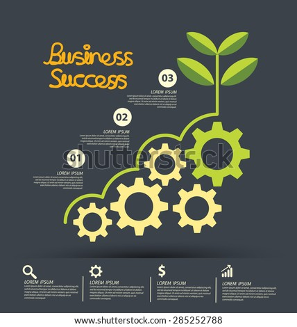 Business Success concept vector illustration. - stock vector