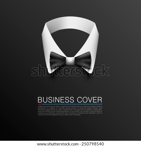 Business Suit Cover art banner. Vector illustration - stock vector