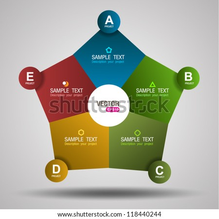 Business system information - stock vector