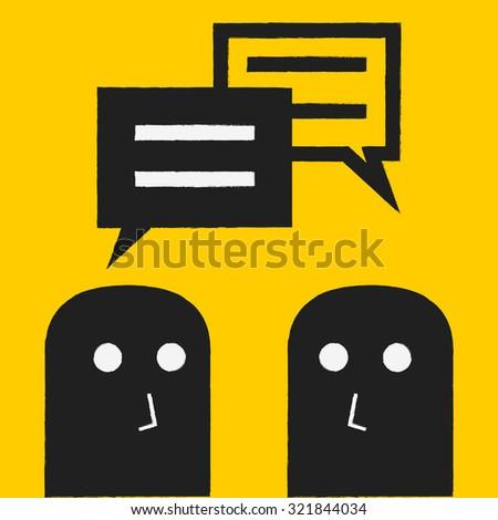 business talking - stock vector