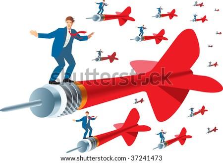 Business target - stock vector