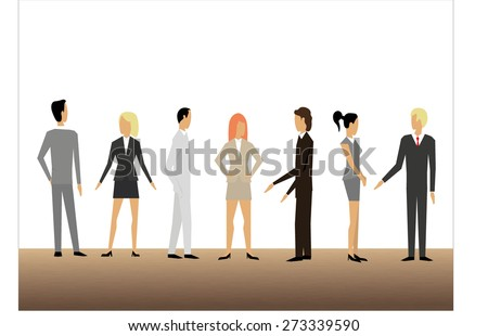 Business team discuss - stock vector