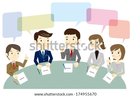 Business team have a meeting - stock vector