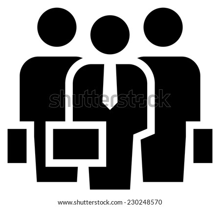 Business team icon - stock vector
