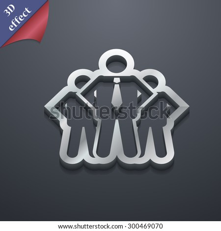business team icon symbol. 3D style. Trendy, modern design with space for your text Vector illustration - stock vector