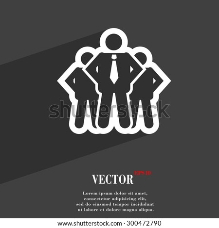 business team icon symbol Flat modern web design with long shadow and space for your text. Vector illustration - stock vector