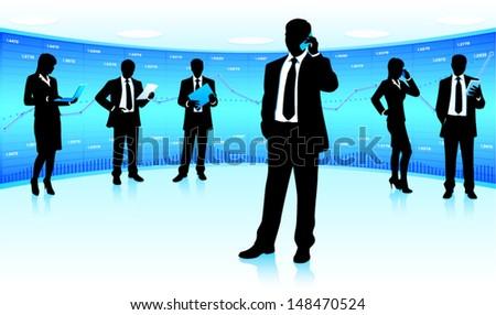 Business team leader - stock vector