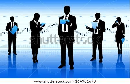 Business team meeting (EPS10 vector) - stock vector