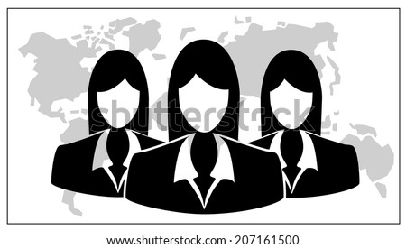 business team.people icon. vector illustration - stock vector