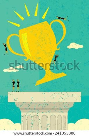 Business Team Success - stock vector