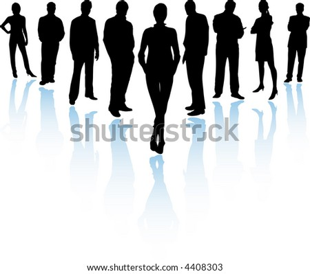 Business Team (Vector fully resizable and editable) - stock vector