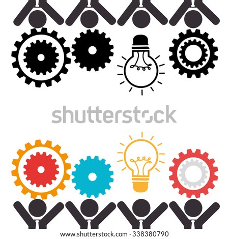 Business teamwork and leadership graphic design, vector illustration