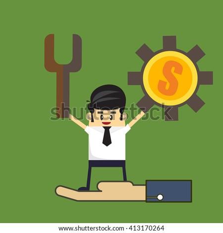 Business teamwork, business concept - stock vector