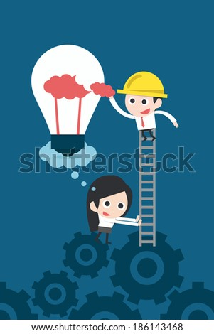 Business teamwork concept vector - stock vector