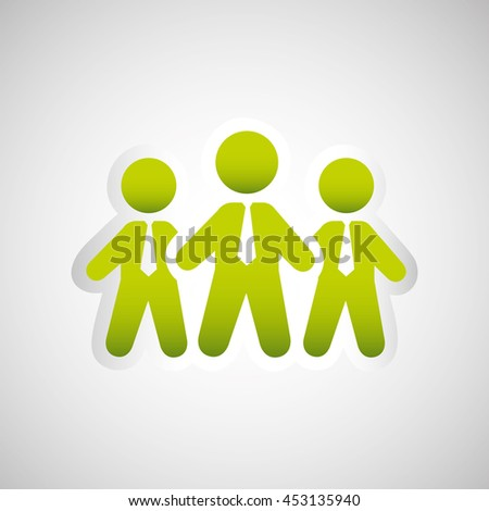 business teamwork people isolated, vector illustration eps10
