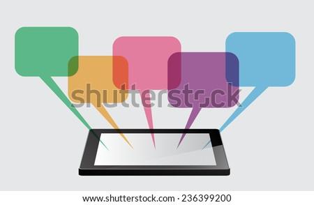 Business technology bubble speech template style.  - stock vector