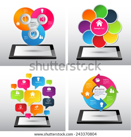 Business technology bubble speech template style. text box template for website computer graphic and internet. cycle. many, various - stock vector