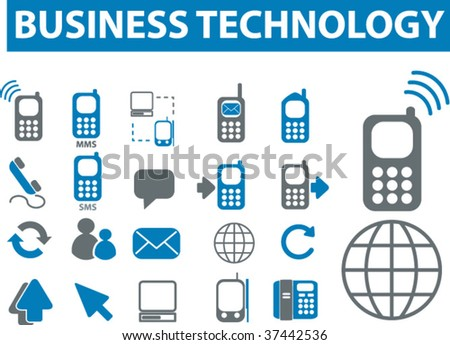 business technology icons. vector