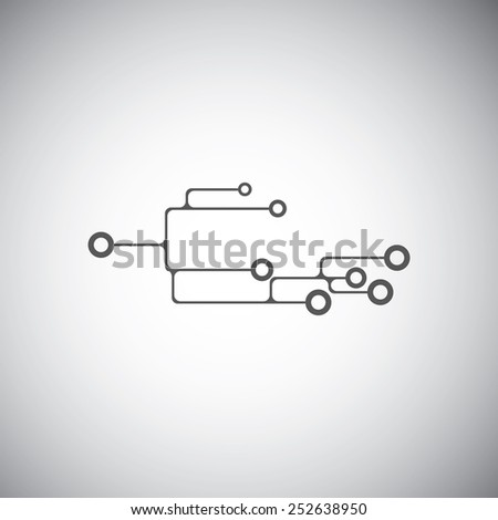 Business technology vector design template. Electronics concept. - stock vector