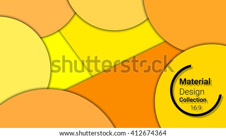 business  template for presentation in 16:9 format. vector illustration. designed for education, web, brochure. abstract creative concept layout template in yellow, orange colors - stock vector