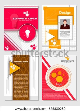 Business Brochure Design Template Vector Flyer Stock Vector ...