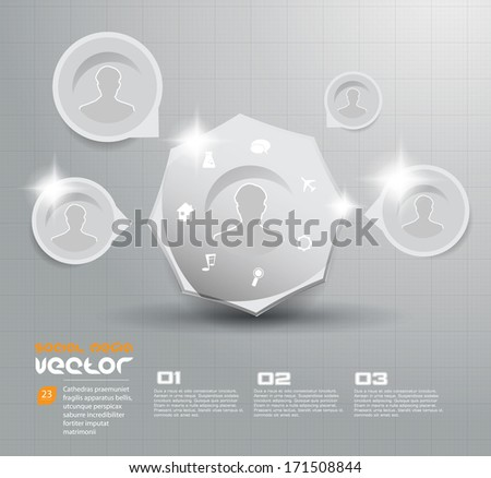 Business Template. Vector - stock vector